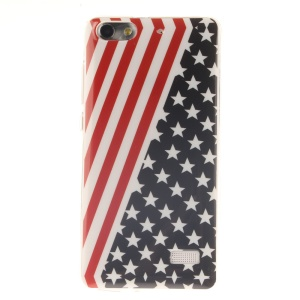 IMD Soft TPU Gel Protective Cover for Huawei Honor 4C - American Flag