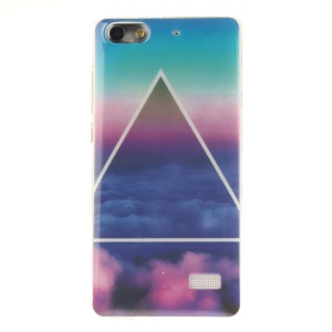 IMD Soft TPU Gel Protective Shell for Huawei Honor 4C - Colorful Cloud and Triangle