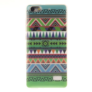 IMD Soft TPU Gel Back Phone Cover for Huawei Honor 4C - Colorful Triangles