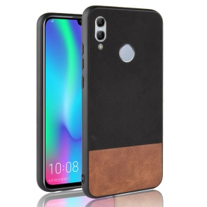 Bi-color Splicing Leather Coated PC + TPU Hybrid Case for Huawei P Smart (2019)/ Honor 10 Lite - Black