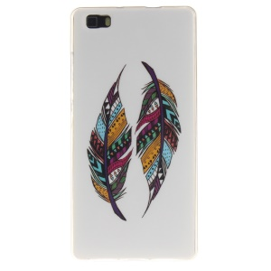 Flexible IMD TPU Case for Huawei Ascend P8 Lite - Colorized Feather