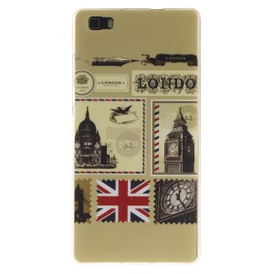 Soft IMD TPU Skin Case for Huawei Ascend P8 Lite - London Envelopes