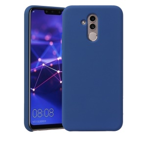 HOWMAK Rubberized Silky TPU Cell Phone Case for Huawei Mate 20 Lite / Maimang 7 - Dark Blue