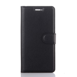 For Huawei P9 Lychee Leather Wallet Case Cover - Black