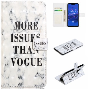 Light Spot Decor Patterned Embossed Leather Wallet Shell for Huawei Mate 20 Lite - More Issues Than Vogue