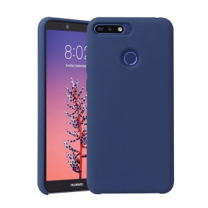 Liquid Silicone Mobile Casing for Huawei Honor 7A (with Fingerprint Sensor) / Honor 7A Pro / Enjoy 8e - Dark Blue