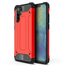 Armor Guard Plastic + TPU Hybrid Back Case for Huawei P30 Pro - Red