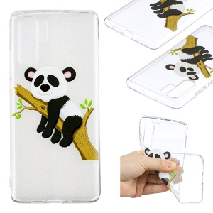 Pattern Printing TPU Shell Case for Huawei P30 Pro - Panda Climbing Tree