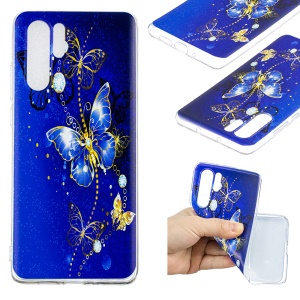 Pattern Printing TPU Mobile Phone Case for Huawei P30 Pro - Butterfly Pattern