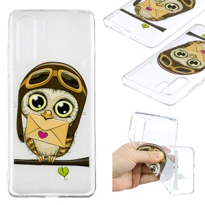 Pattern Printing TPU Case Accessory for Huawei P30 Pro - Owl Pattern