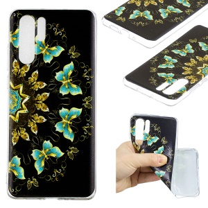 Pattern Printing TPU Soft Case for Huawei P30 Pro - Colorized Butterfly