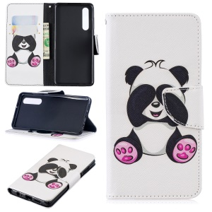 Pattern Printing PU Leather Case [Stand Wallet] for Huawei P30 - Adorable Panda