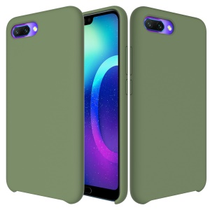 Liquid Silicone Protector Cell Phone Case for Huawei Honor 10 - Green