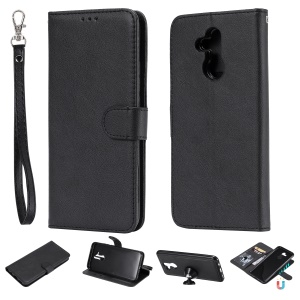 Magnetic Detachable 2-in-1 Wallet Leather Stand Phone Case for Huawei Mate 20 Lite - Black