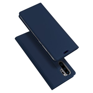 DUX DUCIS Skin Pro Series PU Leather Mobile Phone Case with Stand for Huawei P30 Pro - Dark Blue