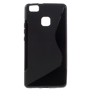 S-line Pattern TPU Cover Case for Huawei P9 Lite - Black