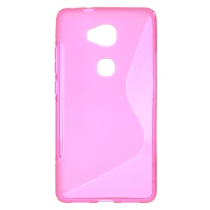 S-line Pattern TPU Back Cover for Huawei Honor 5X/Honor Play 5X - Rose