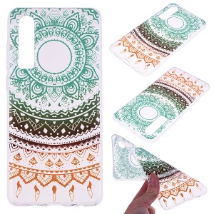 Printing Pattern TPU Mobile Case for Huawei P30 - Colorful Lace