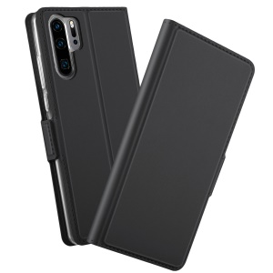 Magnetic Stand Leather Mobile Casing for Huawei P30 Pro - Black