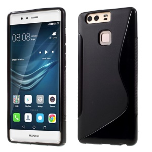S-line Soft TPU Phone Cover for Huawei P9 - Black