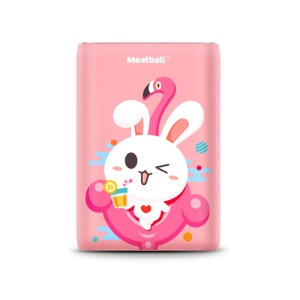 PISEN Single USB 10000mAh Power Bank Battery Charger with LED Indicator Light - Pink