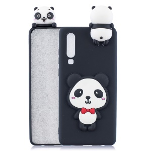 Panda with Red Bowknot