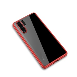 IPAKY for Huawei P30 Pro Clear PC + TPU Hybrid Cell Phone Cover - Red