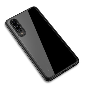 IPAKY Clear PC Back + TPU Edges Combo Protective Case for Huawei P30 - Black