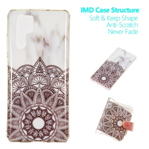 Marble Pattern IMD Flexible TPU Soft Back Case for Huawei P30 Pro - Style L