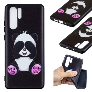 Embossed Pattern TPU Cover Shell for Huawei P30 Pro - Adorable Panda