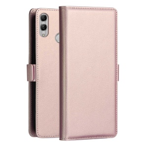 DZGOGO Milo Series Wallet Leather Stand Cover for Huawei P Smart (2019) - Rose Gold