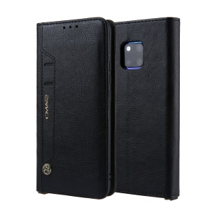 CMAI2 PU Leather Stand Wallet Mobile Case for Huawei Mate 20 Pro - Black