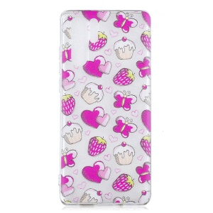 For Huawei P30 Pro Pattern Printing IMD TPU Phone Case - Cakes and Strawberries