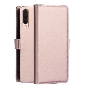 DZGOGO Milo Series Wallet Leather Stand Cover for Huawei P30 - Rose Gold
