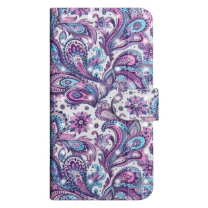 Pattern Printing Light Spot Decor Leather Phone Casing for Huawei P30 - Paisley Flower