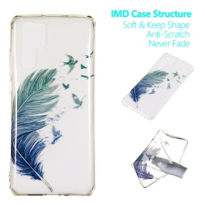 For Huawei P30 Pro IMD Pattern Printing TPU Mobile Case - Feather Birds