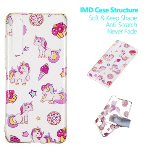 Pattern Printing IMD TPU Case for Huawei P30 - Unicorn