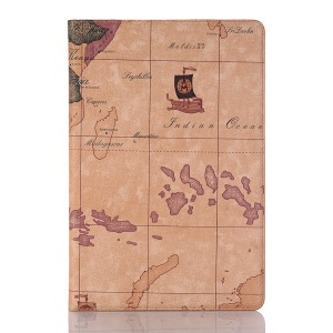 World Map Pattern PU Leather Smart Tablet Case for Huawei MediaPad M5 lite 10 - Style A