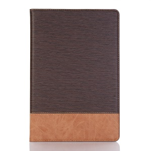 Toothpick Texture PU Leather Smart Case for Huawei MediaPad M5 lite 10 - Coffee