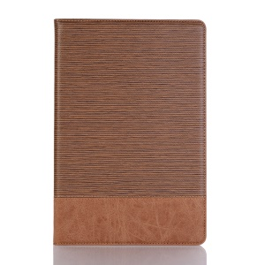 Toothpick Texture PU Leather Smart Cover [Wallet Stand] for Huawei MediaPad M5 lite 10 - Brown