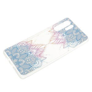 Embossed Pattern 3D Diamond Texture Soft TPU Cover for Huawei P30 Pro - Two Mandalas