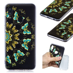 Pattern Printing TPU Phone Case for Huawei Honor 10 Lite / P Smart (2019) - Colorized Butterfly
