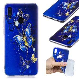 Pattern Printing TPU Protection Case for Huawei Honor 10 Lite / P Smart (2019) - Butterfly Pattern