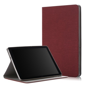 Cloth Coated Leather Stand Tablet Cover Case for Huawei MediaPad T5 10 / Honor Pad 5 10.1 inch / Enjoy Pad 10.1 inch - Brown
