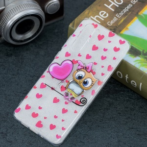 Pattern Printing IMD TPU Case for Huawei P30 Pro - Owl and Hearts