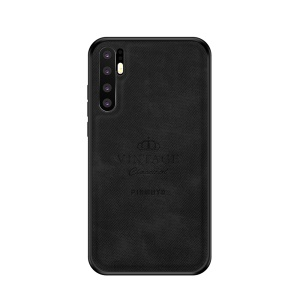 PINWUYO PC + TPU + Leather Hybrid Back Phone Case for Huawei P30 Pro - Black