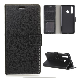 Litchi Texture Wallet Magnetic Stand Leather Case for Huawei P30 Lite - Black