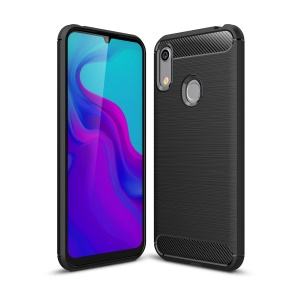 Carbon Fibre Brushed TPU Case for Huawei Honor 8A / Y6 (2019) - Black