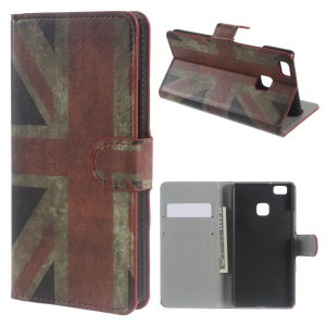 Stand Leather Wallet Cover for Huawei P9 Lite - Retro UK Union Jack