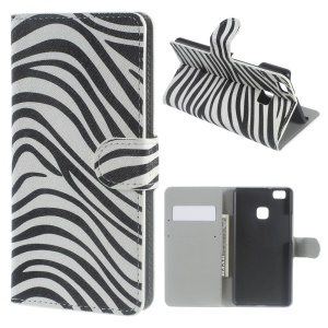 Stand Leather Flip Case Cover for Huawei P9 Lite - Zebra Stripes